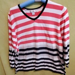 CJ Banks Sweaters - Cj Banks  striped Sweater